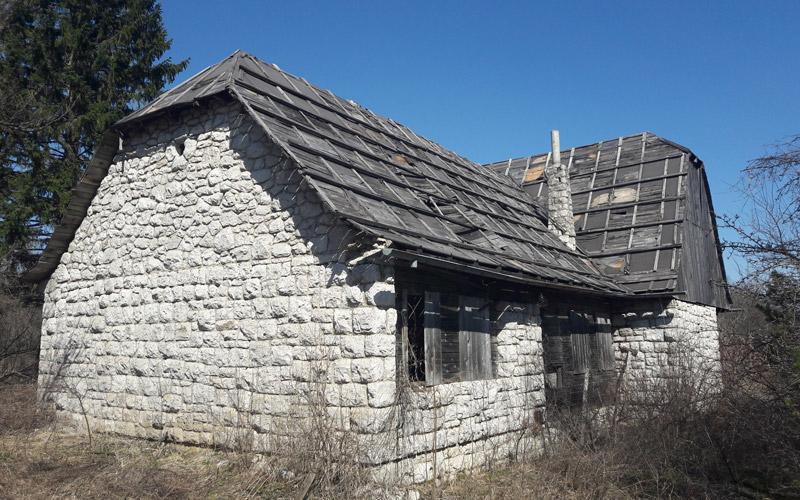 La casa dei guardaboschi sul Prijeboj