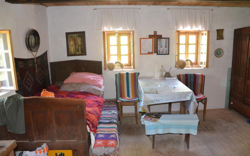 La chambre du meunier à l'intérieur du moulin