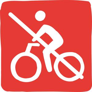 Il est interdit de faire du vélo