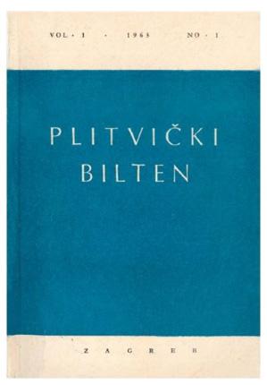 Die erste Nummer des Plitvicer Bulletins (Foto: Archiv NPPJ)