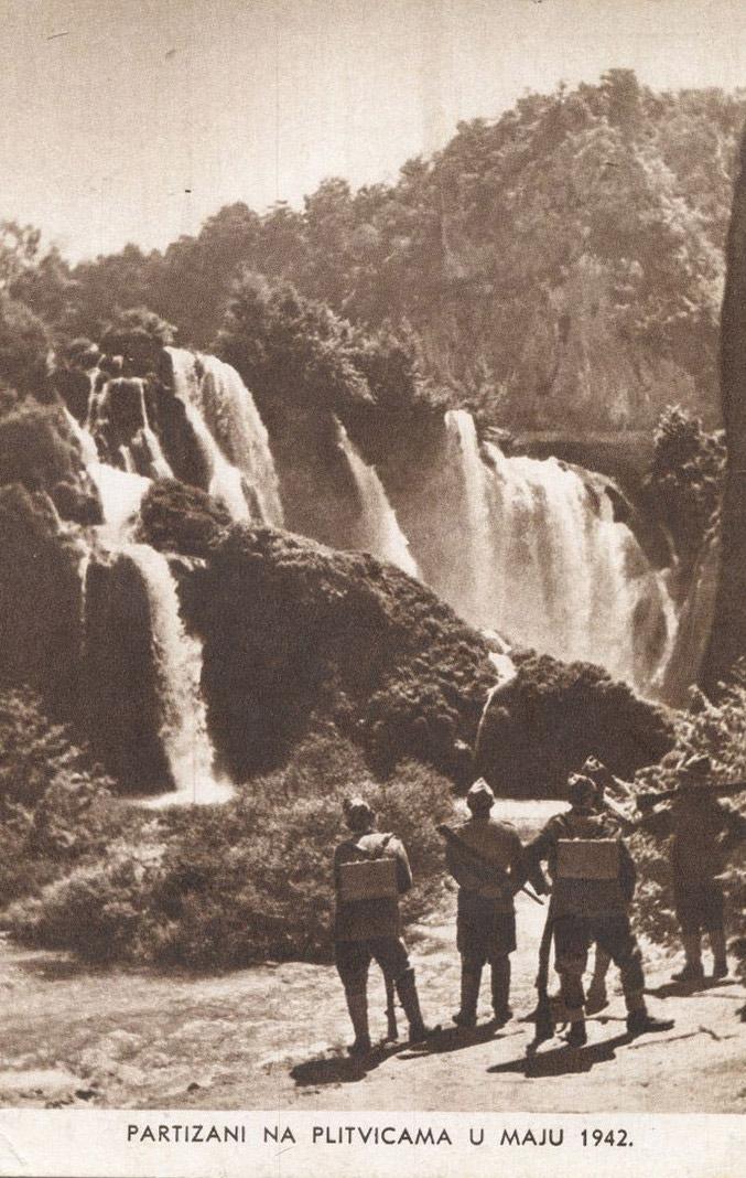 Slika 19. Partizani na Plitvičkim jezerima u Sastavcima 1942.