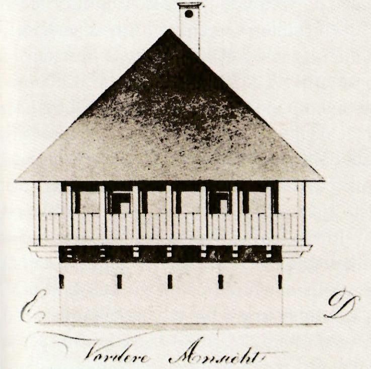 Slika 6. Krajiški čardak (izvor: knjiga Željka Holjevca, Ogulinska Pukovnija 1746 – 1873.)